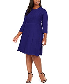 Plus Size Textured Sweater Dress