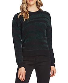 Zebra Eyelash-Knit Sweater