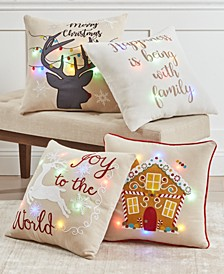 "Light Up 20"" x 20"" Decorative Pillow Collection"