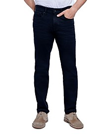 Men's Tapered Athletic Slim Fit Cut 5 Pocket Jean