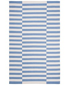 Ludlow Stripe LRL7350B Chambray Area Rug Collection