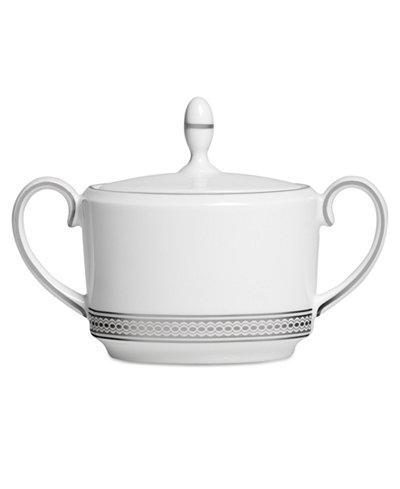 Vera Wang Wedgwood Dinnerware, Moderne Sugar Bowl with Lid