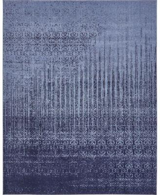 Lyon Lyo2 Blue 6' x 6' Square Area Rug