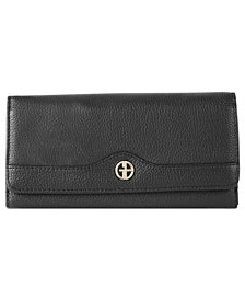 Giani Bernini Pebble Leather Receipt Wallet, Created for Macy's