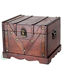 Small Wooden Treasure Box, Old Style Treasure Chest