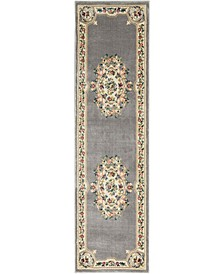 "Juliette Jul01 Gray 2'2"" x 7'6"" Runner Rug"