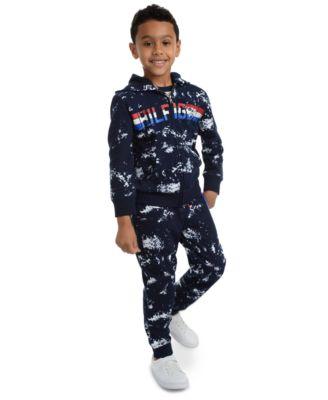 Little Boys Courtney Splatter-Print Fleece Sweatpants