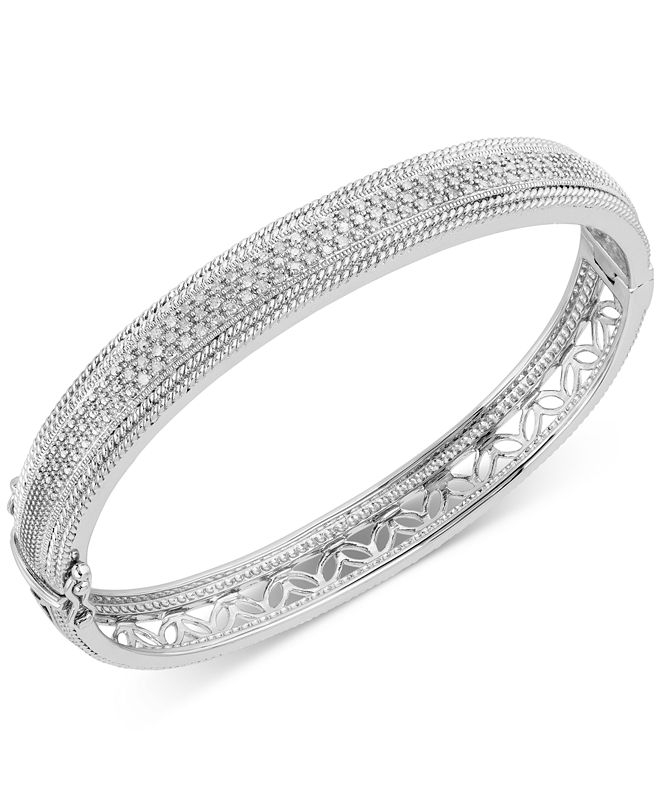 Macy's Diamond Bangle Bracelet (3/8 ct. t.w.) in Sterling Silver