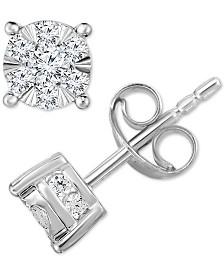 TruMiracle Diamond Stud Earrings (3/4 ct. t.w.) in 14k White Gold