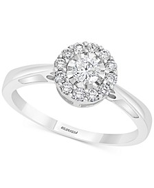 EFFY® Diamond Engagement Ring (3/8 ct. t.w.) in Sterling Silver