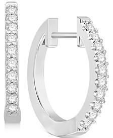 Diamond Hoop Earrings (1/4 ct. t.w.) in 14k White Gold