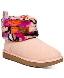 Women's Fluff Mini Quilted Boots