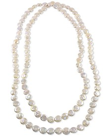 "64"" Cultured Freshwater Endless Coin Pearl (12-13mm) Strand Necklace"