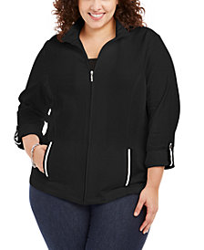 Karen Scott Plus Size French Terry Jacket, Created for Macy's