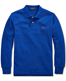 Polo Ralph Lauren Big Boy Cotton Mesh Long-Sleeve Polo Shirt