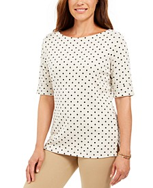 Petite Polka Dot Top, Created For Macy's