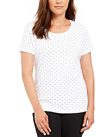 Petite Dot-Print Top, Created for Macy's