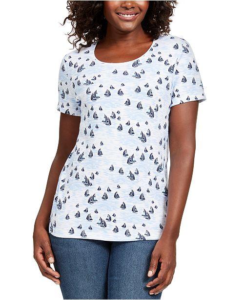 Karen Scott Scoop-Neck T-Shirt, Created For Macy's