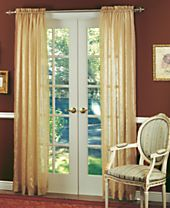 """CLOSEOUT! Miller Curtains Sheer Striped Aria 51"""" x 84"""" Panel"""
