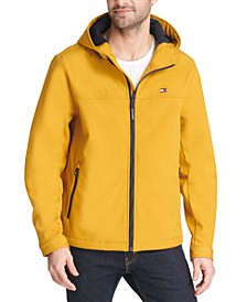Men's Logo Graphic Hooded Soft-Shell Jacket, Created for Macy's