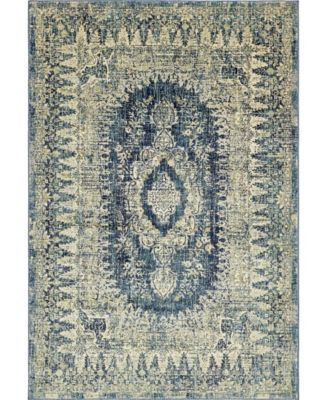 Masha Mas5 Navy Blue 7' x 10' Area Rug