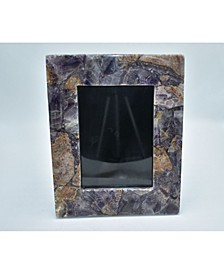 """- 10"""" H x 8"""" W Natural Amethyst Picture Frame"""