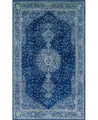 Mobley Mob1 Navy Blue 9' x 12' Area Rug