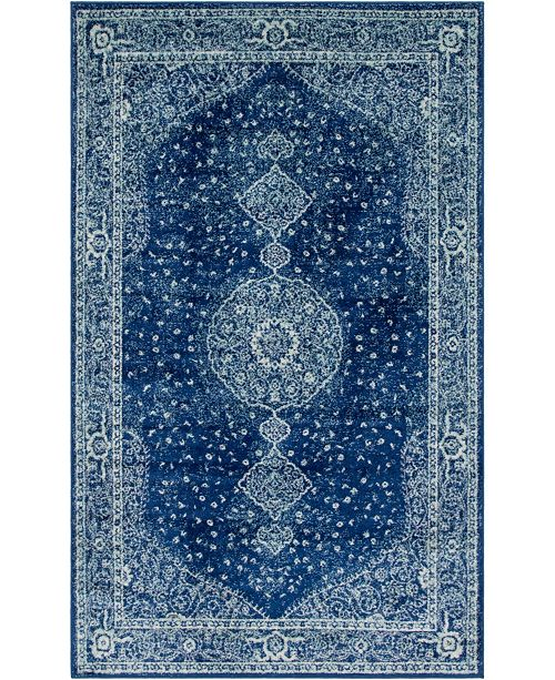 Bridgeport Home Mobley Mob1 Navy Blue Area Rug Collection