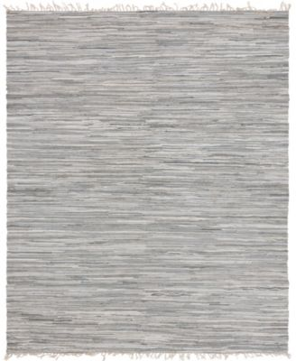 Jari Striped Jar1 Gray 5' x 8' Area Rug