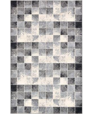 Maasai Mss1 Light Gray 5' x 8' Area Rug