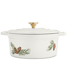 6-Qt. Pinecone Enameled Cast Iron Dutch Oven, Created For Macy's