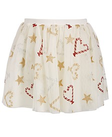Little Girls Glitter Candy Reversible Skirt, Created For Macy's