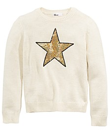 Big Girls Sequin Star Sweater, Created For Macy's