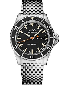 Mido Men's Swiss Automatic Ocean Star Tribute 75th Anniversary Stainless Steel Bracelet Watch 41mm