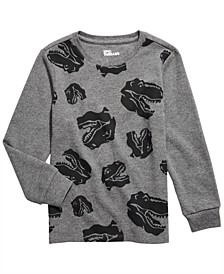 Little Boys Dino Head Thermal T-Shirt, Created For Macy's