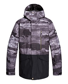 Mens Mission Printed Block Snow Jacket