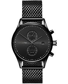 Men's Voyager Black Stainless Steel Mesh Watch 42mm