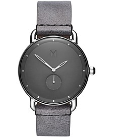 Men's Gotham Revolver Gray Leather Strap Watch 41mm