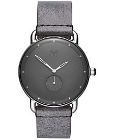 MVMT Men's Gotham Revolver Gray Leather Strap Watch 41mm