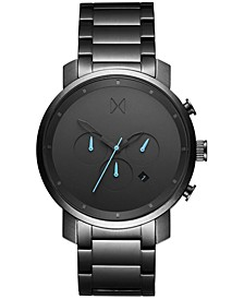 Men's Chrono Gunmetal Stainless Steel Bracelet Watch 45mm