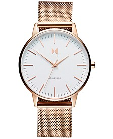 Women's Boulevard Malibu Rose Gold-Tone Stainless Steel Mesh Bracelet Watch 38mm