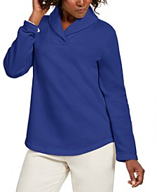 Petite Shawl-Collar Sweatshirt, Created For Macy's