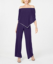 Off-The-Shoulder Overlay Jumpsuit