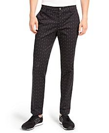 Men's Dot-Print Twill Pants