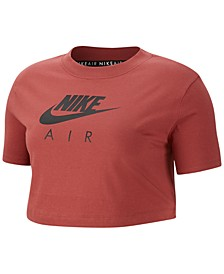 Air Plus Size Short-Sleeve Crop Top