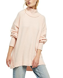 Afterglow Mock-Neck Tunic Sweater