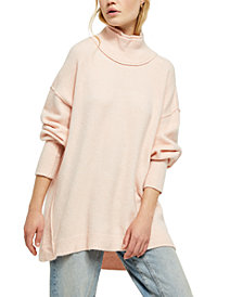 Free People Afterglow Mock-Neck Tunic Sweater