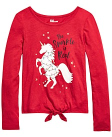 Big Girls Real Sparkle Unicorn T-Shirt, Created For Macy's