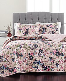 Velvet Floral Quilt Collection, Created For Macy's