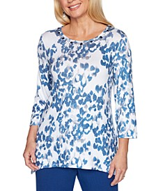 Sapphire Skies Animal Shimmer Printed Top